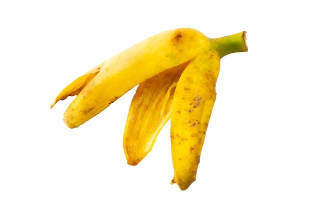 バナナの皮はクリッピングパスで隔離されています。
