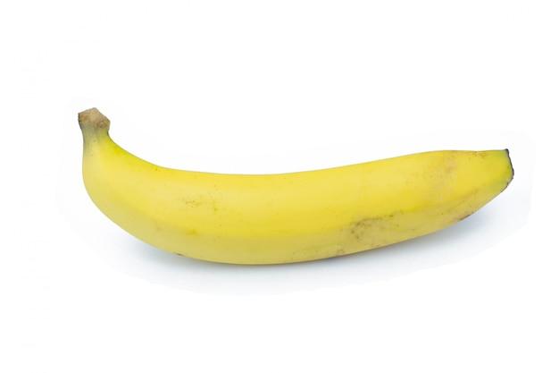 Banana. ripe banana isolated on white background.