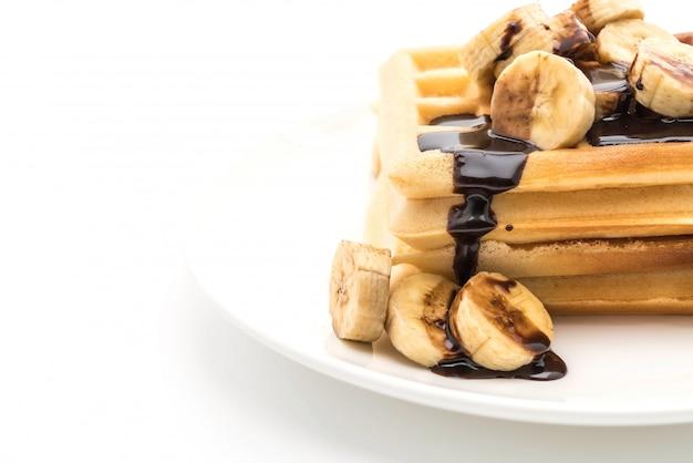 Банановая вафли с шоколадом