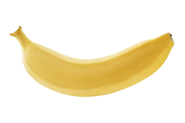 Banana on white background, isolated. photographed bananas on the stack. good, detailed photo processing.