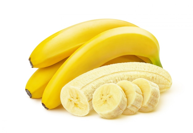 Banana on white background