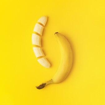 スライスしたバナナ