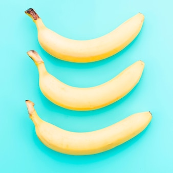 Bananas on colored background