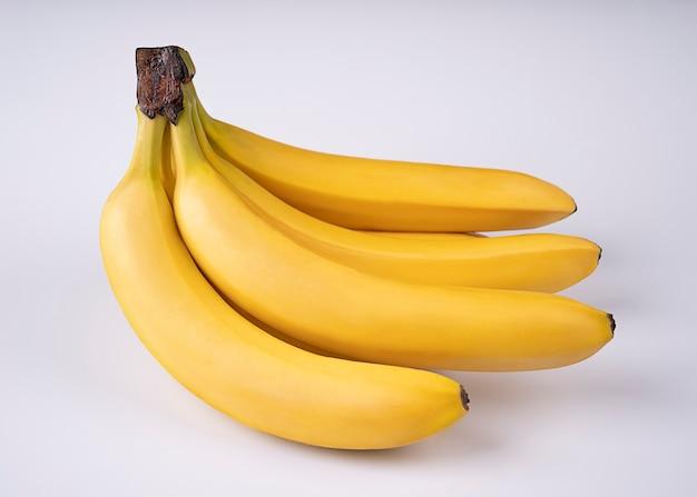 白い背景で隔離のバナナ