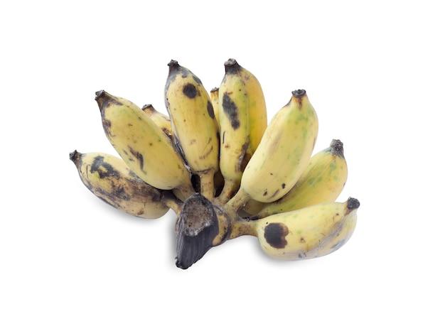 白い背景に分離されたバナナ