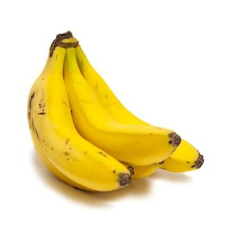 흰색 배경에 바나나