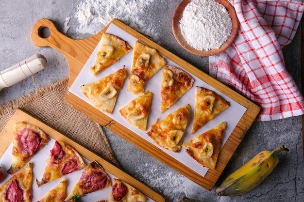 Бананы пицца плоская планировка