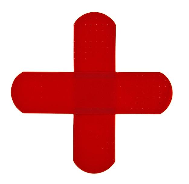 반창고 십자가 흰색 절연
