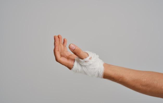Bandaged arm health problem patient injury studio