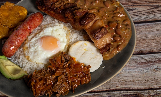 Bandeja paisa, typical dish of colombia.