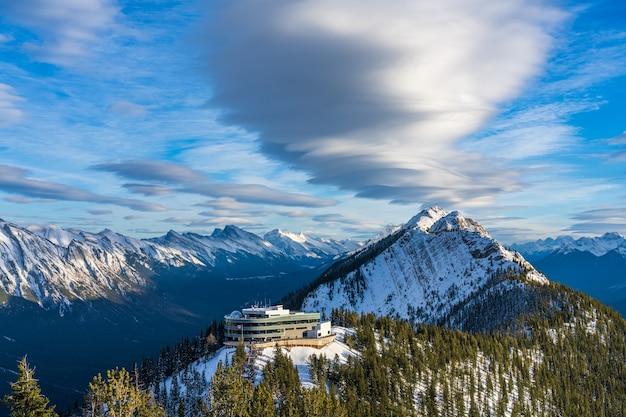밴프 곤돌라 정상 역 밴프 국립 공원 캐나다 로키 산맥