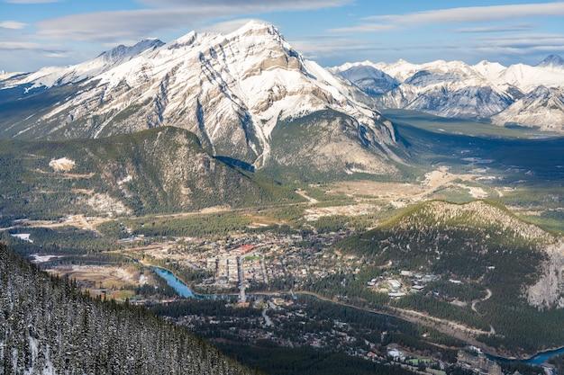 밴프 국립 공원 앨버타 캐나다 캐나다 초기 겨울에 록 키 산맥