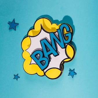 Bang comic bubble speech in pop art style