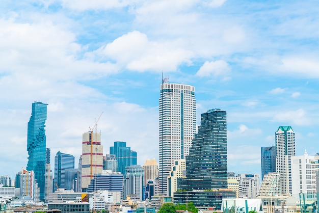 Bangkok city with blue sky