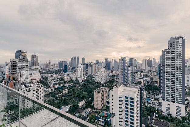 Bangkok cityscape after the rain.
