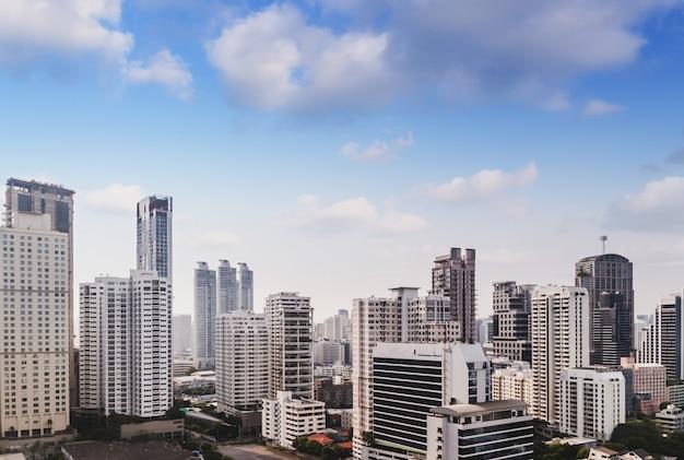 Бангкок городской пейзаж архитектура строительство бизнес
