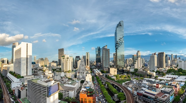 Bangkok cityscape business district
