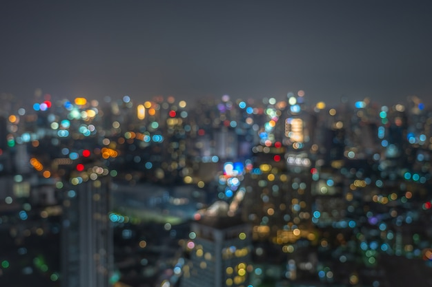 Bangkok cityscape at twilight time, background concept