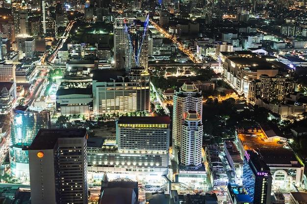 バンコク、タイ-2014年11月9日:タイ、バイヨークタワーからのバンコクの夜景