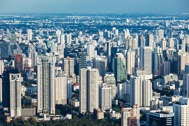 バンコク、タイ-2014年11月9日:タイ、バイヨークタワーからのバンコクのパノラマビュー