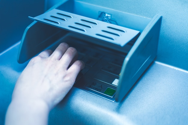 In the bank atm operation, enter the password