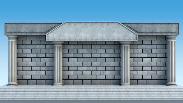 Здание банка 3d иллюстрация