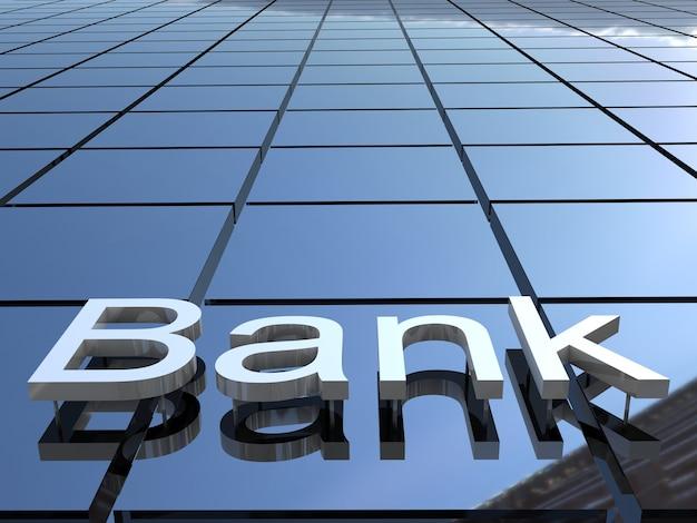 Bank logo on the building facade