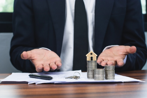 Bank managers approve home and residential loans for customers.