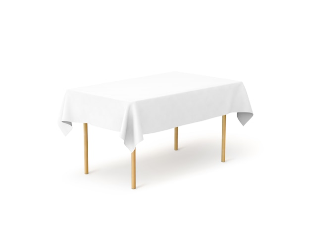 Bank white tablecloth ,