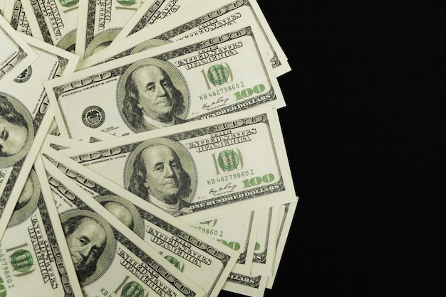 Banknotes of money cash 100 dollars