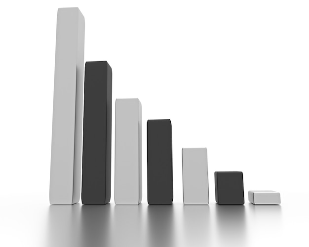 Bankruptcy business concept graph