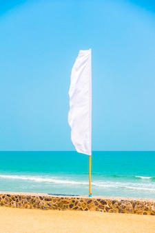 Banner abstract clear pole flags