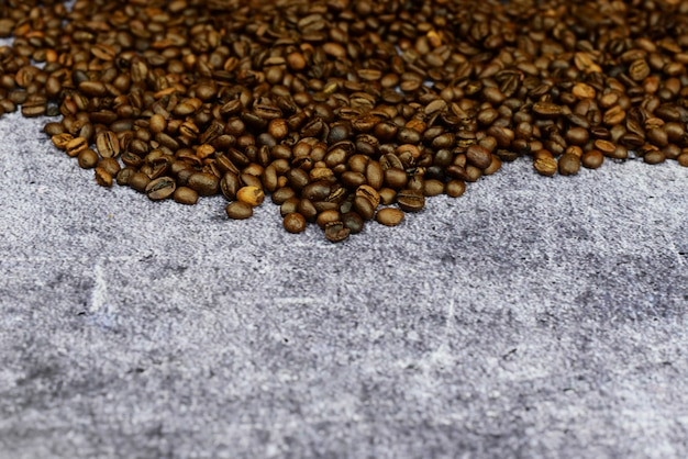 Banner coffee grains fragrant