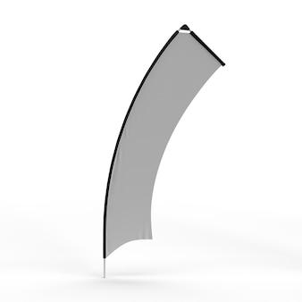 Баннер выставка развевающегося флага extreme shape 5