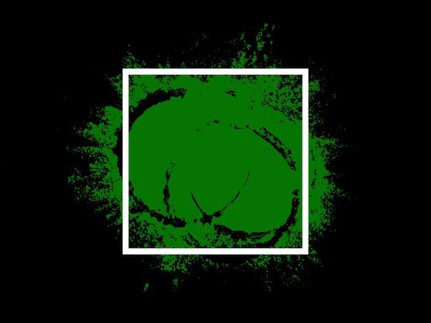 배너. 흰색 사각형이 있는 녹색 터치. 고품질 사진