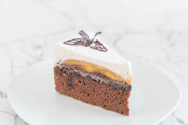Banoffee cake on plate