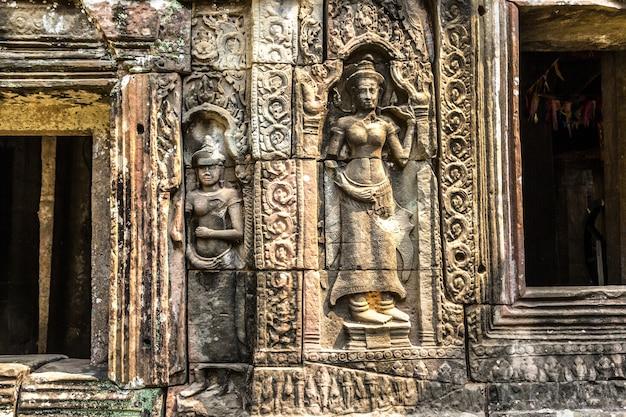 Храм бантей кдей в ангкор-ват, камбоджа