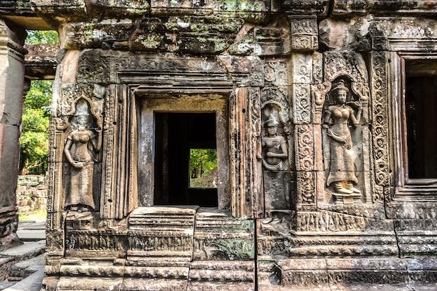 Храм бантей кдей в ангкор-ват в сием рипе, камбоджа