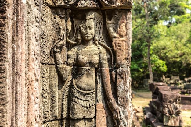 Храм бантей кдей в ангкор-ват в сием рип, камбоджа