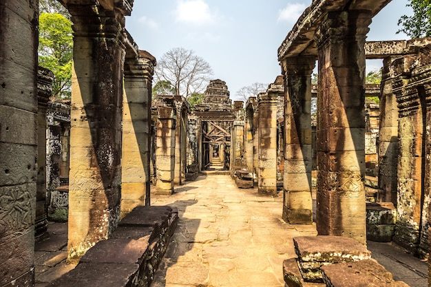 Храм бантей кдей в ангкор-ват в сием рипе