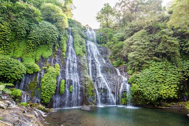 Banyumala twin waterfalls on bali