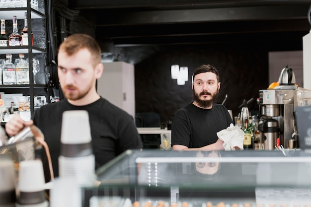 Bar concept with barmen