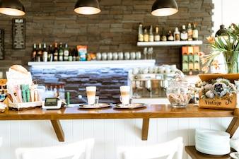 Bar with coffee