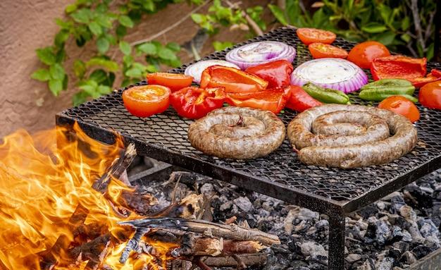 Barbecue outdoor in a garden