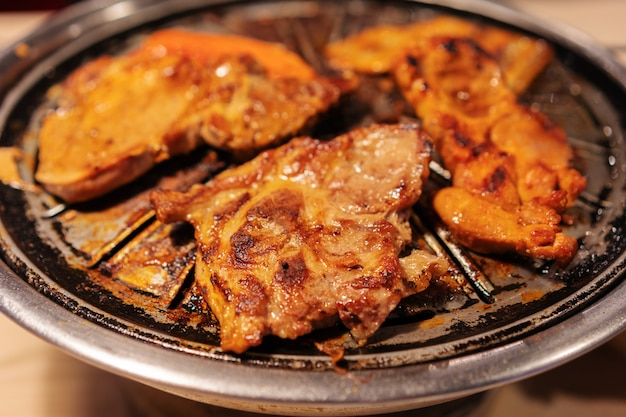 Barbecue pork and meat grill, korean style
