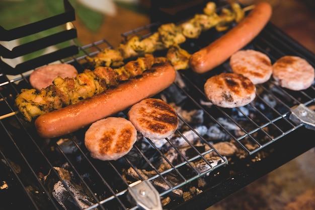 Barbecue con carne