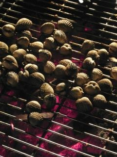 Barbecued clams