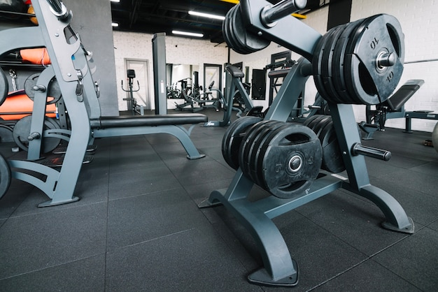 Barbell weights rack