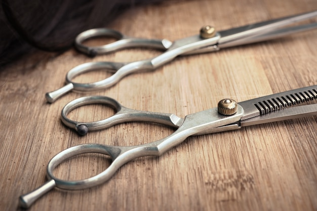 Barber scissors hair cutting