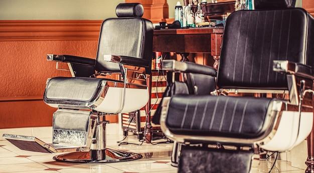 Стул парикмахерской. кресло парикмахерской, современный парикмахерский салон